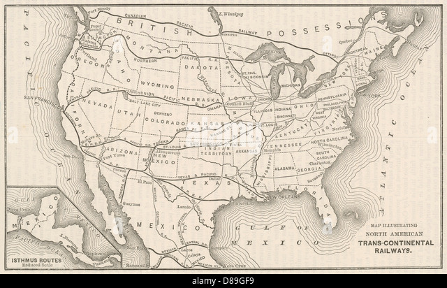Railroad Map Us Globalinterco - Railroad map us 1880