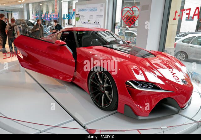Genial The Toyota FT 1 Concept Car On Display In The Paris Toyota Car Showroom On