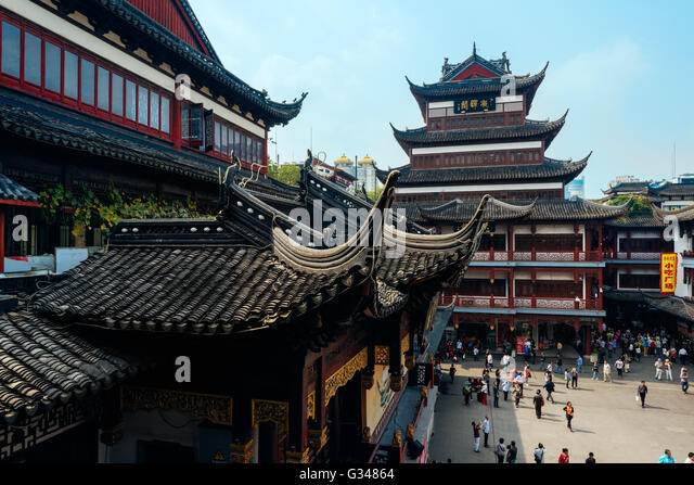 Shanghai Yuyuan Garden Traditional Building Stock Photos ...
