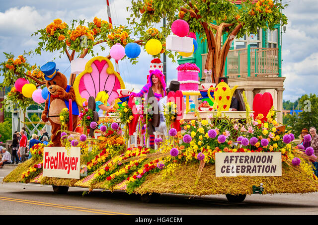 Portland, Oregon, USA   June 11, 2016: Fred Meyer Float With The