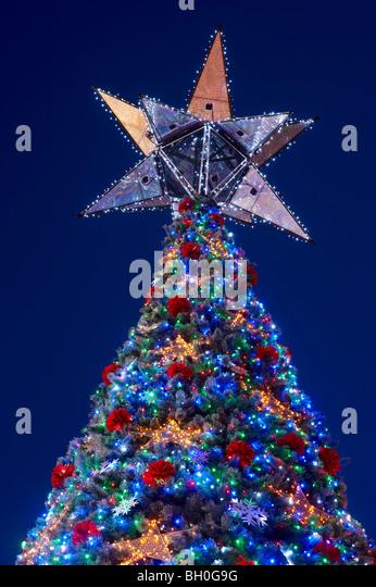 worlds largest solar powered christmas tree brisbane australia stock image - Solar Christmas Decorations Australia