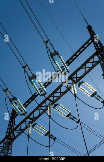 Powerline utility stock photos powerline utility stock for Glass power line insulators