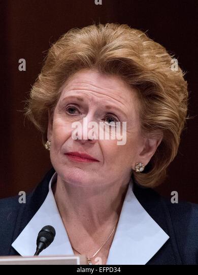 united states senator debbie stabenow democrat of michigan listens as s donovan
