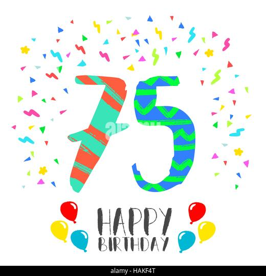 Happy Birthday 75th Birthday Photos Happy Birthday 75th – 75 Birthday Card