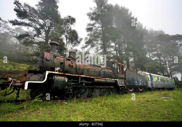 Historic Old Steam Engine Abandoned Stock Photos