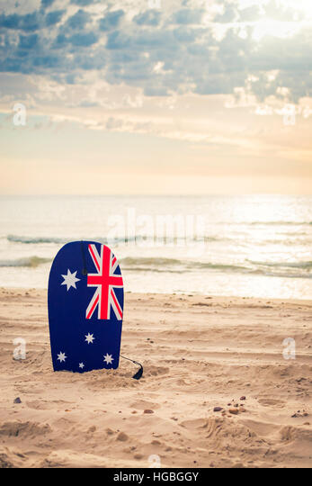 Australia Flag Beach Stock Photos Australia Flag Beach Stock Images Alamy