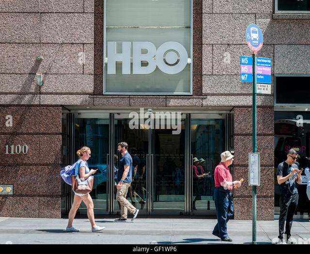 The Offices Of The Time Warner Owned HBO In New York On Friday, July 22