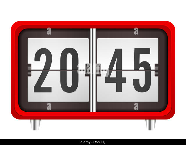 Flip clock stock photos flip clock stock images alamy White flip clock