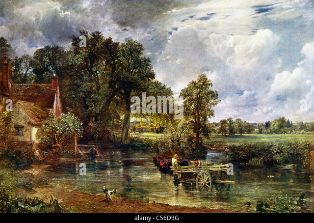 John Constable The Haywain English Car Shows Stoc...