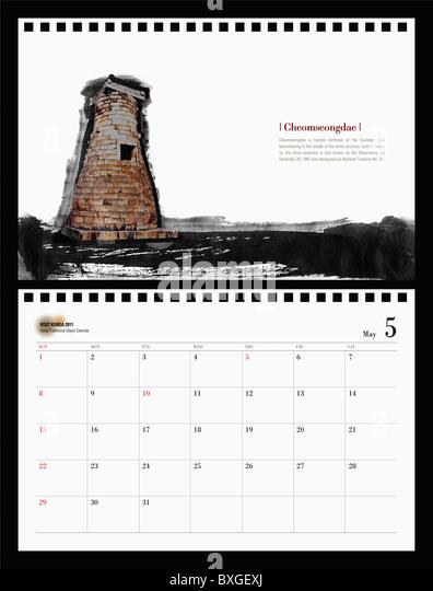 May Calendar Korea : Tongro stock photos images alamy