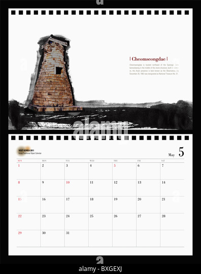 May Calendar Korea : Kyongsangbuk do stock photos