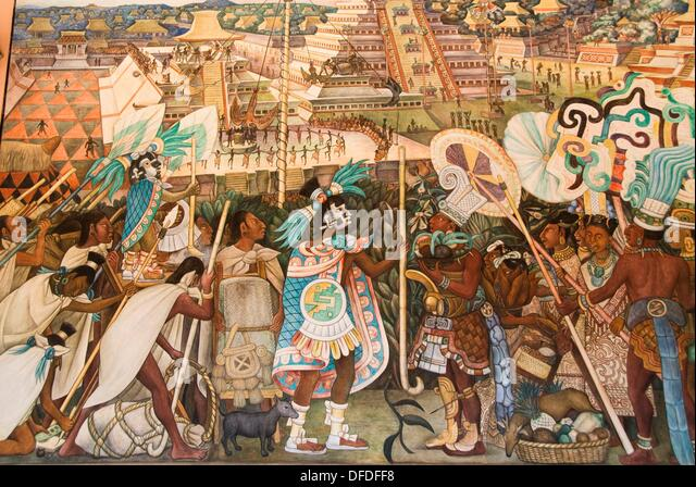 Diego rivera fresco palace national palace stock photos for Diego rivera s most famous mural