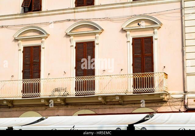 Apartment balcony railing stock photos apartment balcony for Closed balcony