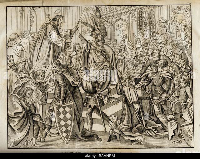 HISTOIRE ABRÉGÉE DE L'ÉGLISE - PAR M. LHOMOND – France - 1818 - DEUXIEME PARTIE ( Images et Cartes) Conrad-iii-circa-1093-1521152-king-of-germany-1331138-1521152-conrad-baanbm