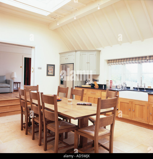 Interiors traditional diningroom extension stock photos for Traditional kitchen extensions