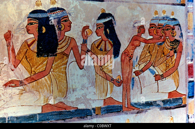 Egyptian paintings of royal figures are generally www for Egyptian mural paintings