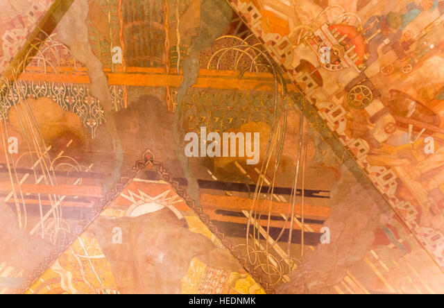 Chrysler building interior stock photos chrysler for Chrysler building mural