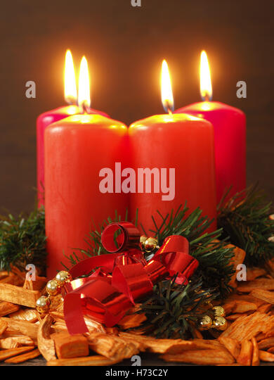 Advent candles stock photos advent candles stock images for Advent candle decoration