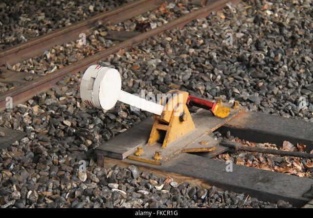 Lever Train Track : Points lever stock photos images alamy