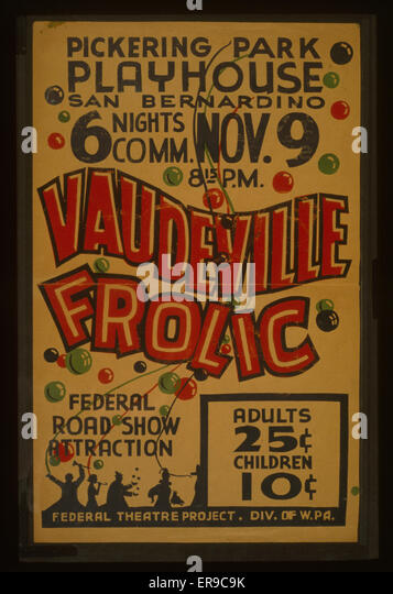 Vaudeville Poster Stock Photos & Vaudeville Poster Stock Images ...