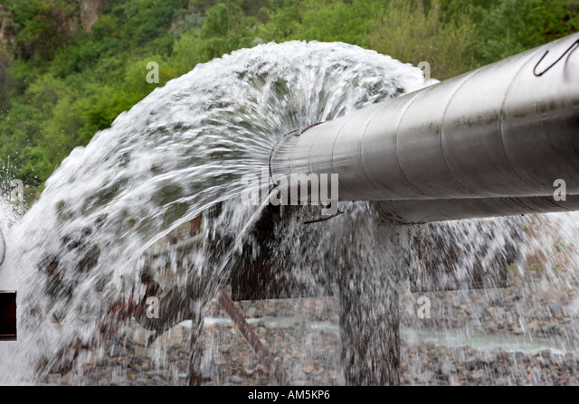 Broken water pipe stock photos broken water pipe stock for Leaky pipe carries more water