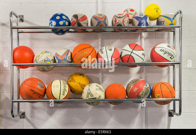 Storage For Different Types Of Balls   Stock Image
