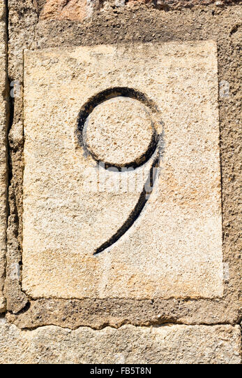 Carved number stock photos images