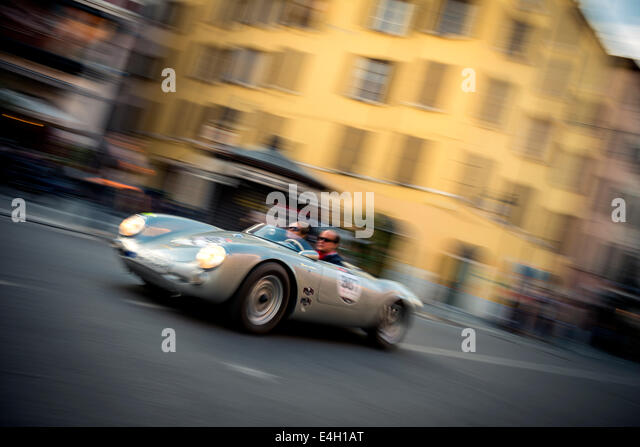 porsche 550 spyder rs at mille miglia classic car race brescia italy 2014 - Porsche Spyder 550 2014