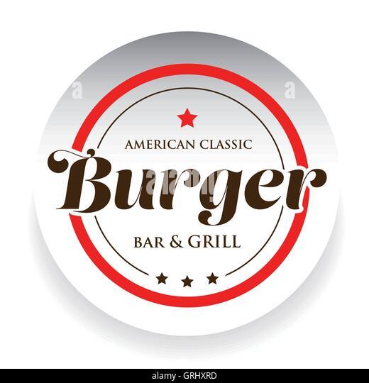 Hamburger burger vector logo design stock photos for American classic logo