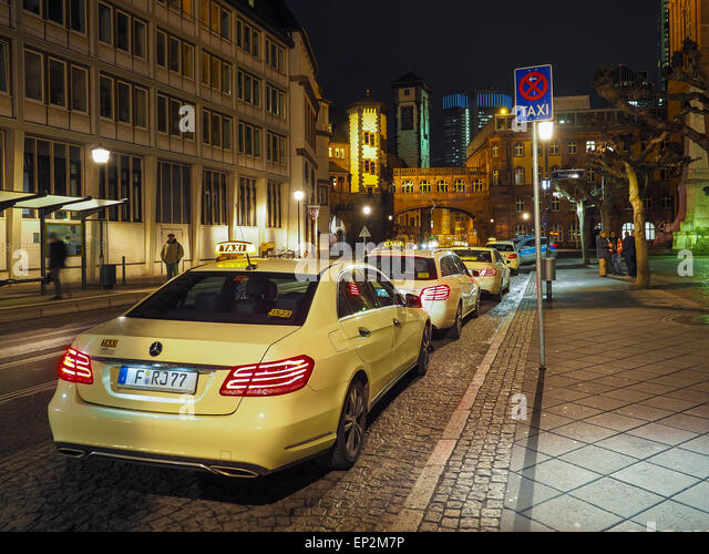 taxi frankfurt night stock photos taxi frankfurt night stock images alamy. Black Bedroom Furniture Sets. Home Design Ideas