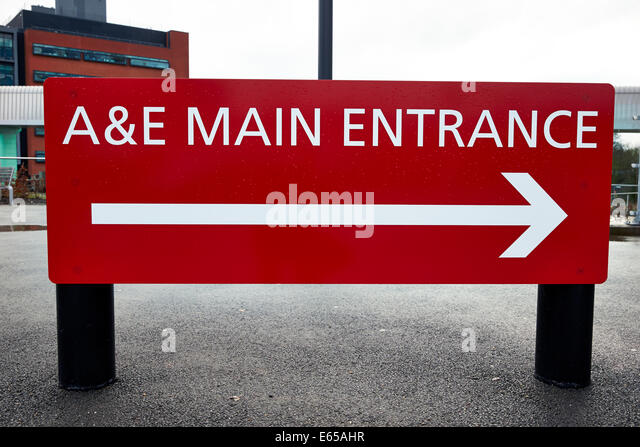 Accident and emergency department nhs stock photos accident and ae main entrance sign outside an accident and emergency department of a nhs hospital sciox Image collections