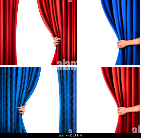 Blue velvet stage curtain stock photos blue velvet stage - Wallpaper and curtain sets ...