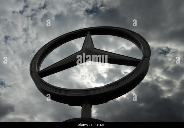 Mercedes benz sign stock photos mercedes benz sign stock for Mercedes benz sign in
