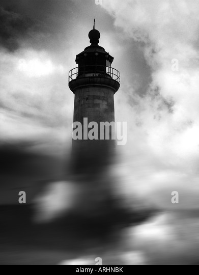 Lighthouse Night Black and White Stock Photos & Images - Alamy