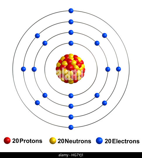 Protons cut out stock images pictures alamy 3d render of atom structure of calcium isolated over white background stock image ccuart Gallery