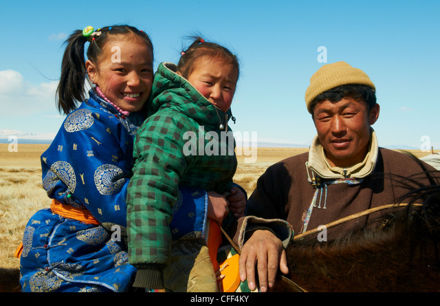 Nomadic Mongolian People In Winter Stock Photos & Nomadic ...