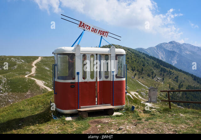 old style cable car on display monte blonde italy jjwhjt old cable car stock photos & old cable car stock images alamy  at gsmx.co