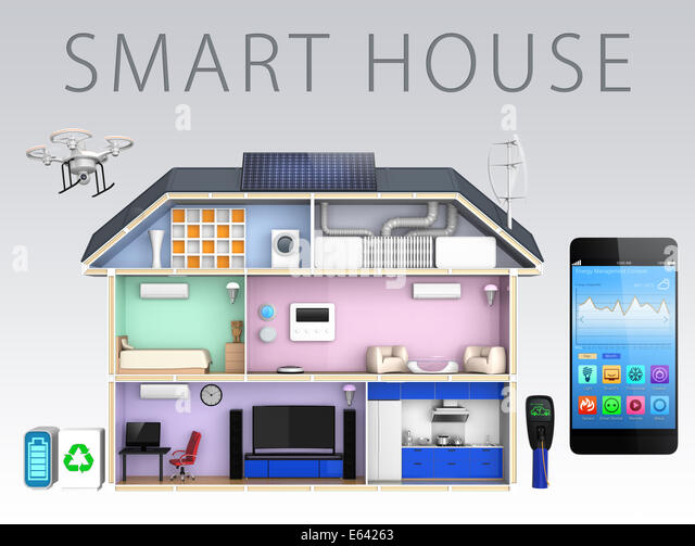Smart Meter House Stock Photos Smart Meter House Stock