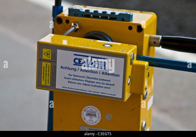 Track Measuring Device : Railway laser stock photos images