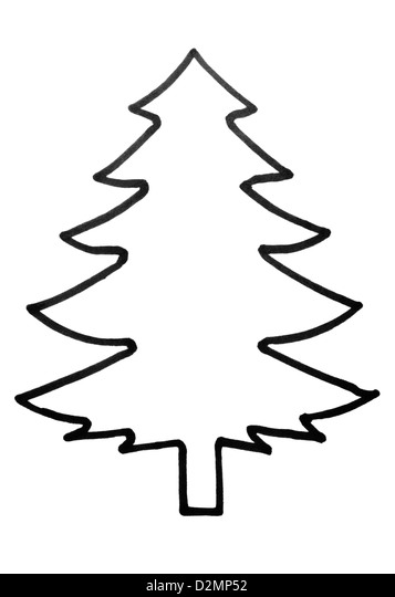 Outline Christmas Tree Stock Photos Outline Christmas Tree Stock  - Christmas Tree Outlines