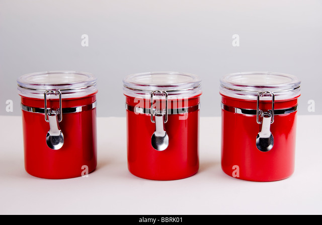 kitchen storage jars stock image - Kitchen Storage Containers