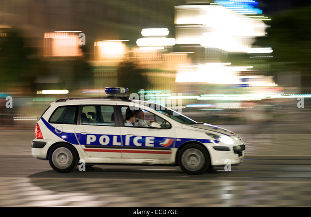 french police car stock photos french police car stock images alamy. Black Bedroom Furniture Sets. Home Design Ideas