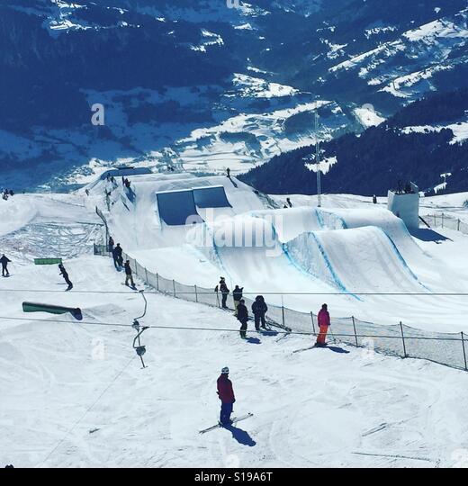 Laax Switzerland Ski Stock Photos Laax Switzerland Ski Stock