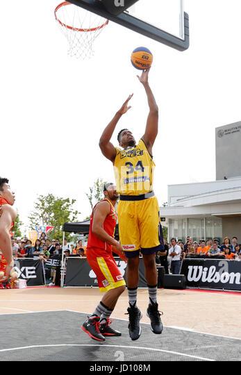 Tokyo, Japan. 17th June, 2017. Kyle Richardson (BREX.EXE) Basketball : 33 PREMIER.EXE 2017 Season TACHIKAWA Eastrn - Stock Image