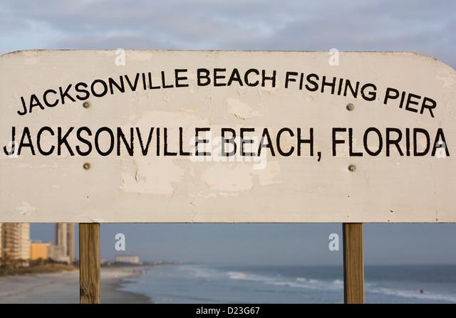 Jacksonville Beach Pier Stock Photos Jacksonville Beach