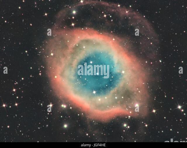 NGC7293, the Helix nebula - Stock Image