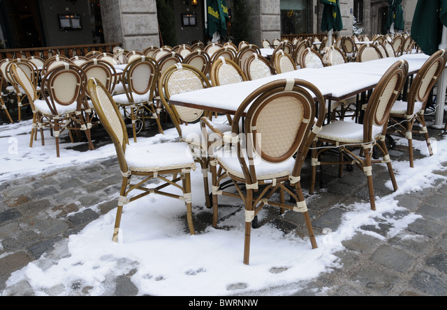 Cafes stand stock photos images alamy