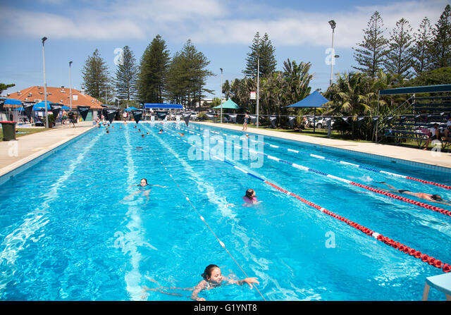 Public Swimming Pool Lanes Stock Photos Public Swimming