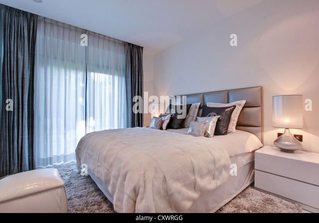 sheer curtains stock photos  sheer curtains stock images  alamy, Bedroom decor