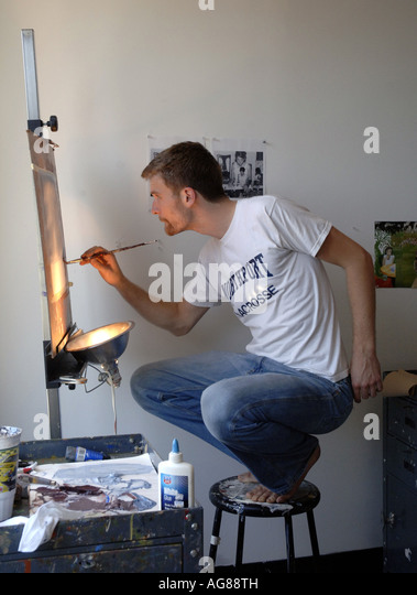 Painter art stock photos painter art stock images alamy for Painting classes ct